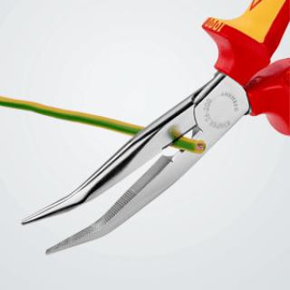 Knipex 26 26 200 – Flachrundzange mit Schneide, VDE-geprüft