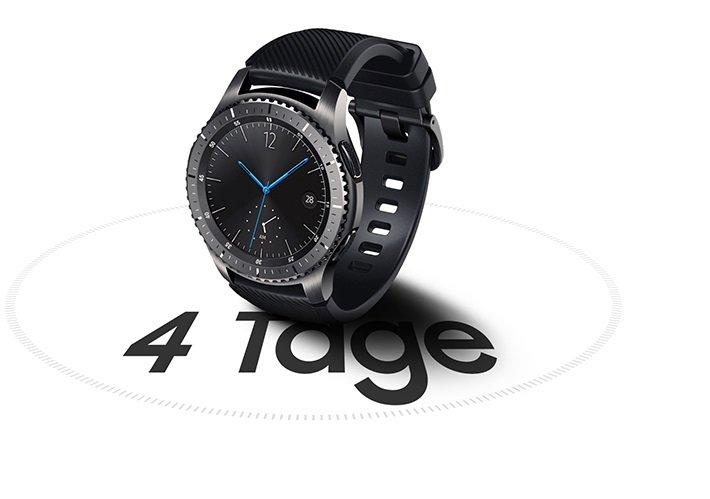 Tagelang aktiv, auch ohne Aufladen - Samsung Gear S3 Frontier Smartwatch