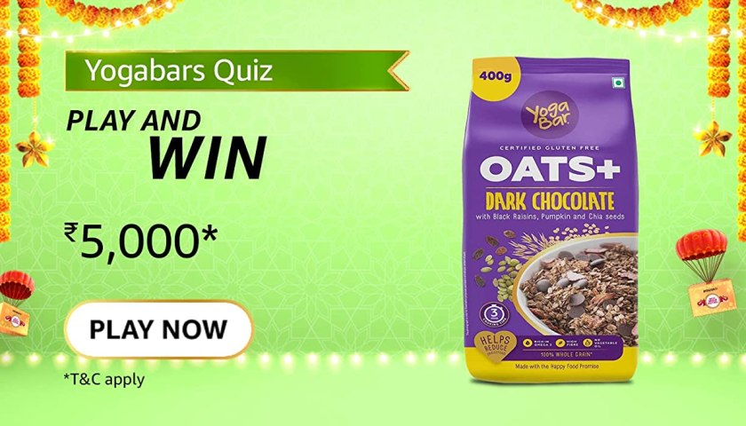 Yogabar Dark Chocolate Oats are rich in which nutrients?