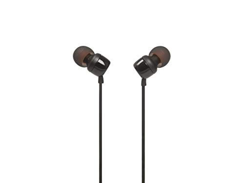 JBL T110 - Auriculares in-Ear con Mando a Distancia de un botón, Negro, Una Talla