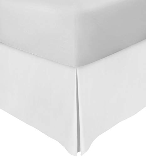 Utopia Bedding Bed Skirt Hotel Quality, Iron Easy, Quadruple Pleated, Wrinkle and Fade Resistant (Queen, White)