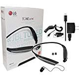 By JBL - LG Tone Ultra 820 Black Bluetooth Wireless Stereo Headset with LG Wall Charger and Car Charger (Renewed)
