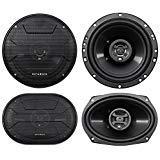 2) Hifonics ZS693 6x9' 800 Watt Car Audio Coaxial Speakers+2) 6.5' 600w Speakers
