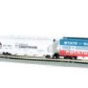 Bachmann Trains – Empire Builder Ready To Run 68 Piece Electric Train Set – N Scale 213j9v6 2BSML
