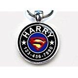 """Superman Blue Custom pet ID Tag dog tag cat pet tag (Small 1"""")"""