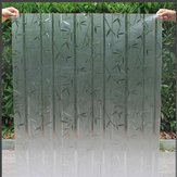 Windowpane Movie - 45x200cm Pvc Frosted Waterproof Sticker Glass Shower Screen Cover Film Decor - Moving Picture Motion Celluloid Photographic Cinema - 1PCs