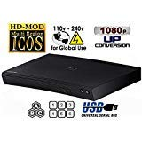 NEW SAMSUNG BD-J5100 (Compact 12W' x 2H' x 8D') Multi Zone All Region Blu Ray DVD Player - 1 HDMI, 1 COAX, 1 ETHERNET CONNECTIONS + (6Feet HDMI Cable)