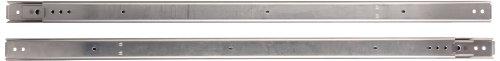 Sugastune ESR-6 304 Stainless Steel Drawer Slide, Full Extension, Positive Stop, 16' Closed, 16-27/32' Travel, 126lbs/Pack (1 Pair)