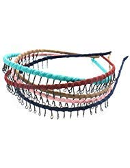 JETEHO 5 Colors Vintage Metal Headband with Teeth Comb Hair Accessories for Girls