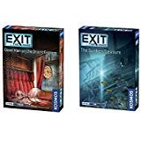 Thames & Kosmos Exit the Game Bundle of 2: Dead Man on the Orient Express and The Sunken Treasure (2 items)
