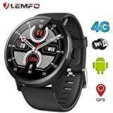 LEMFO LEMX Smart Watch Phone 4G LTE - Android 7.1 2.03' Screen MTK6739 1GB+16GB 8MP Translator GPS WiFi Heart Rate Monitor Smartwatch for Men Women