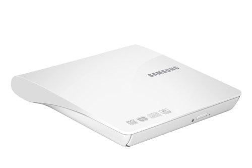 Samsung 8x Slim DVD+/-RW Slim USB External Drive, White SE-208DB/TSWS