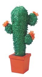 Cactus Pinata with Pull String Kit