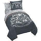 Jay Franco Harry Potter Draco Dormiens 7 Piece Full Bed Set, Gray