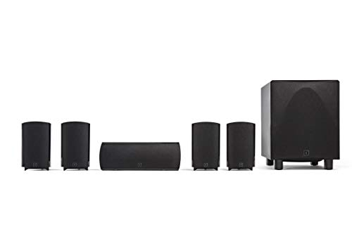 Definitive-Technology-ProCinema-6D-Compact-51-Channel-Home-Theater-Speaker-System-2019-Model-250-Watt-Powered-Subwoofer-Center-Channel-4-Speakers-Sleek-Modern-Looks-Match-Any-Decor-Black
