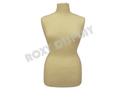 (JF-F14/16W+BS-01NX) Size 14-16 White Female Dress Form Mannequin Plus Size  42\