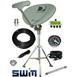 DirecTV SWM SL5S Portable Satellite RV Dish Kit Camping Tailgating with Tripod SWiM