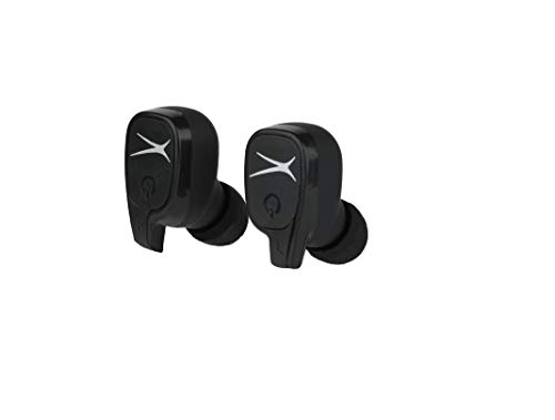 Altec Lansing MZX635 True Wireless Earbuds, True Connect Truly Wireless Headphones, Includes Portable Pocket-Sized Charging Case, IPX4 Waterproof Rating, Black
