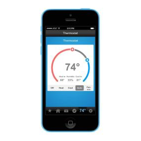 Remotely control your INSTEON Thermostat from your smartphone or tablet