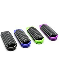 JETEHO Pack of 4 Portable Folding Hair Brush with Mirror Compact Pocket Hair Comb for Travel Gift