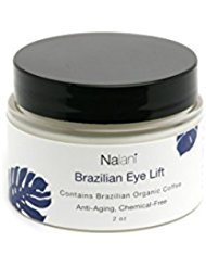 Nalani - Brazilian Eye Lift Cream - Natural and Organic - Eliminate Wrinkles Day and Night - Brazilian Coffee, Banana Oil, Mango Butter, Olive, Argan, Aloe, Shea Butter, Avocado, and Sunflower - 2 Ounce