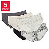 Carole Hochman Ladies' 5-pack Hipster Panty Small, Multi-Color
