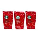 Starbucks Holiday Blend 2019 Ground Coffee - Pack of 3 Bags - 10 oz Per Bag - 100% Arabica Coffee - Medium Roast - Herbal & Sweet Maple Notes - Limited Edition Flavor