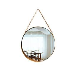 April box–Decorative Hanging Wall Mirror – Small Vintage Mirror for Wall – 10 Inch Gold Metallic Frame Mirror – Premium Quality Material Wall Mirrors –Easy Mounting –Ideal for Bathroom,Home Decor
