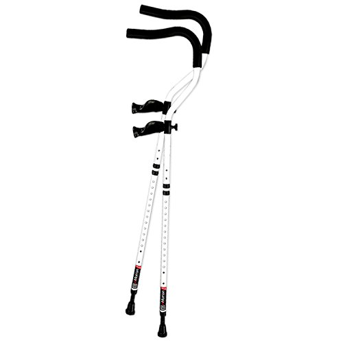 In-Motion Pro Ergonomic Foldable Crutches | Size Tall (5'7