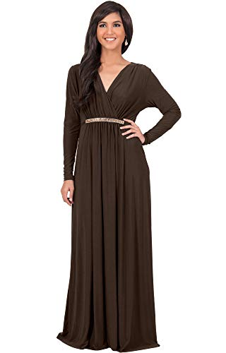 611Xe Uqu9L PLUS SIZE - This great maxi dress design is also available in plus sizes STYLE - Comfortable and well-fitted long sleeved maxi dresses that can be dressed up or down to suit your mood OCCASION - Perfect casual maxi dresses with sleeves or understated chic long sleeved gowns
