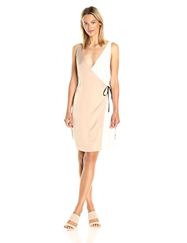31%2Bc7NWajnL Plain color way Wrap dress