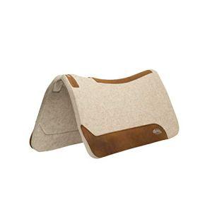 Weaver Leather 35-2712-1 Contoured Wool Blend Felt Saddle Pad, 1″, Tan