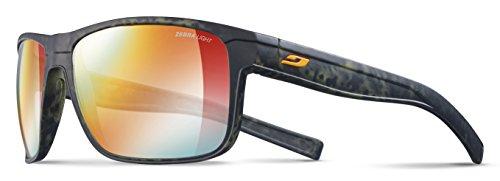 Julbo Renegade Performance Sunglasses - REACTIV Zebra Light - Camo Green/Orange