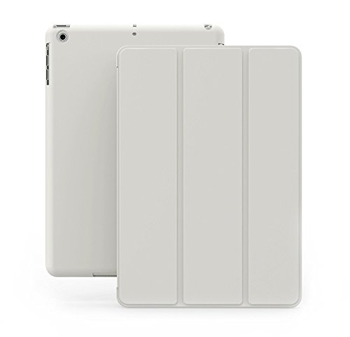 iPad Air 2 Case - KHOMO Dual Super Slim White Cover with White Back and Smart Feature