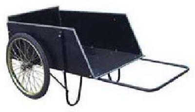YTL International YTL22106 Heavy Duty Wood Push Farm & Yard Cart - 14 cu. ft.