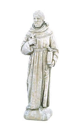 Solid-Rock-Stoneworks-St-Francis-With-Bird-On-Shoulder-Statue-25in-Tall-Desert-Sand-Color