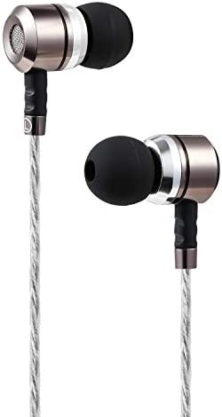 Sephia SP3060 Earbuds, Wired in-Ear Headphones with Tangle-Free Cord, Noise Isolating, Bass Driven Sound, Metal Earphones, Carry Case, Ear Bud Tips 16