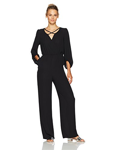 31 1id07UyL V-neckline Three-quarter sleeve Elasticized waist