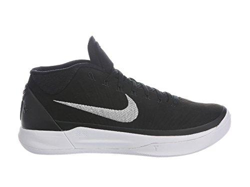 Nike Men's Kobe A.D. Black/Metallic Silver/White Nylon Basketball Shoes 10 D(M) US