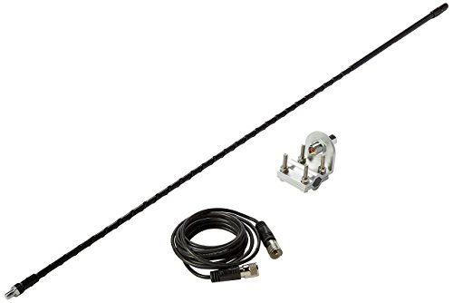 Solarcon 213B Black 3' Fiberglass 750W Top Loaded CB Antenna with Mirror Mount/Cable