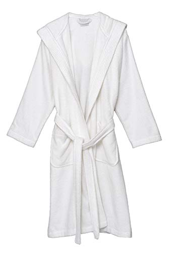 TowelSelections Women's Hooded Robe, Cotton Terry Cloth Bathrobe Small White