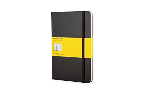 Moleskine Classic Notebook, Large, Squared, Black, Hard Cover (5 x 8.25)