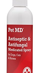 Pet MD - Antiseptic and Antifungal Medicated Spray for Dogs, Cats and Horses with Chlorhexidine, Ketoconazole, Essential Fatty Acids, Aloe and Vitamin E - 8 oz 7