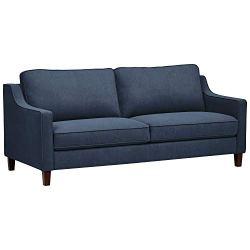 Amazon Brand – Stone & Beam Blaine Modern Sofa Couch, 79.5″W, Navy Blue