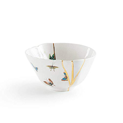 Seletti Kintsugi bowl in porcelain and 24 carat gold mod. 2