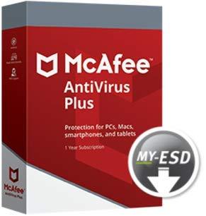 McAfee Antivirus Plus | 5 Dispositivos | 1 Año | ESD | Descargar | Email