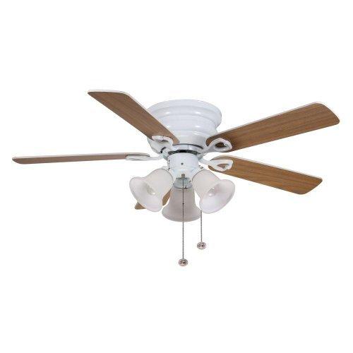 Clarkston 44 reversible blades Oak/White - White Ceiling Fan by Hampton Bay