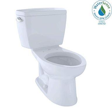 TOTO CST744E#01 Eco Drake Two-Piece Elongated 1.28 GPF Toilet, Cotton White