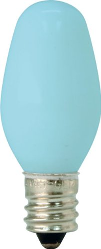 GE Lighting 26223 4-Watt Specialty C7 Incandescent Light Bulb, Blue, 2-Pack