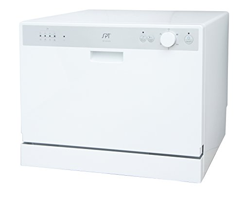 Sunpentown SD-2202W Countertop Dishwasher with Delay Start in White, Gray